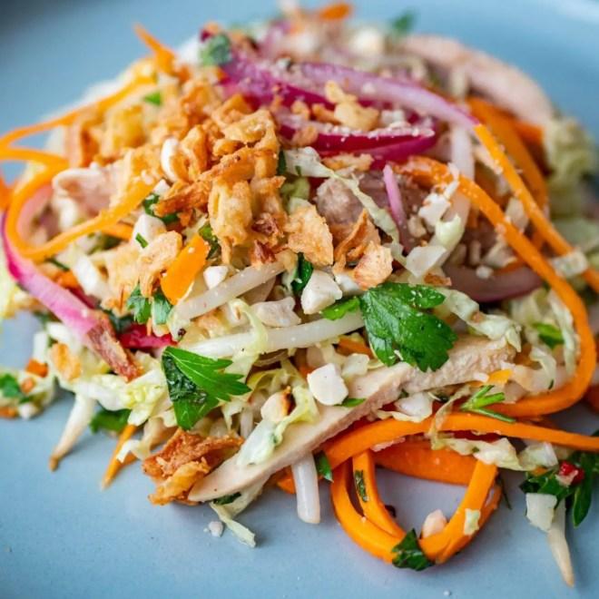 salade de poulet au chou
