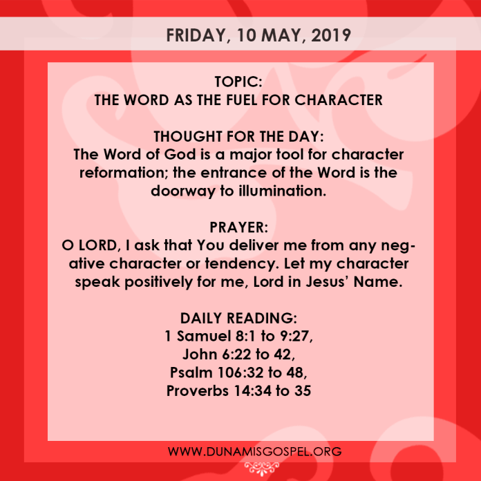 Seeds of Destiny 10 May 2019, Seeds of Destiny 10 May 2019 – The Word As The Fuel For Character