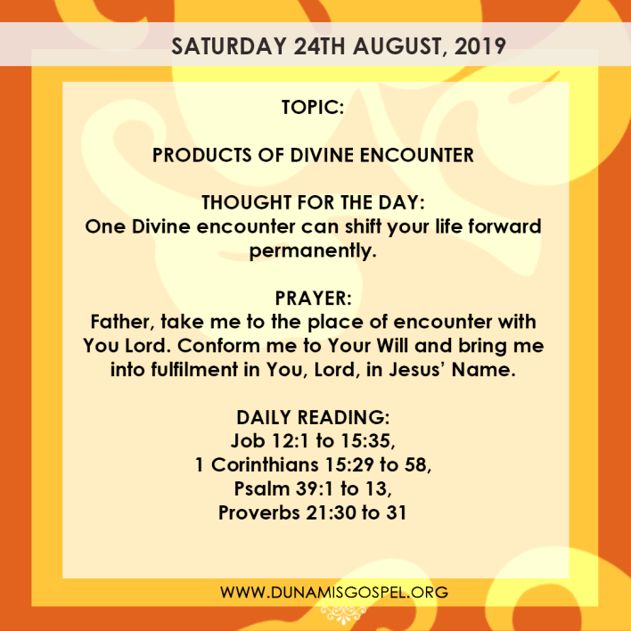 Seeds of Destiny 24 August 2019, Seeds of Destiny 24 August 2019 – Products of Divine Encounter