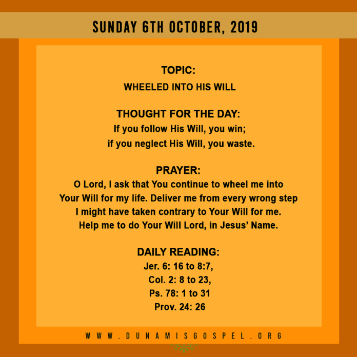 Seeds of Destiny 06 October 2019, Seeds of Destiny 06 October 2019 – Wheeled Into His Will