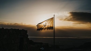 silhouette photography of national flag