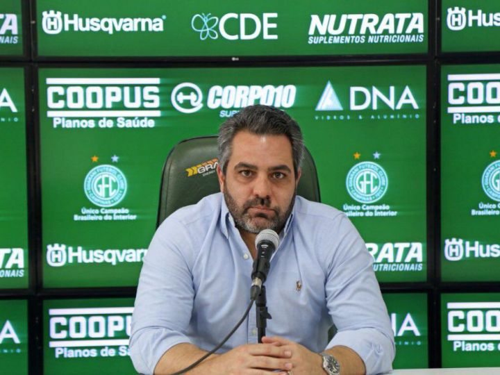 Presidente do Guarani elogia time, que desfalcado perdeu de goleada