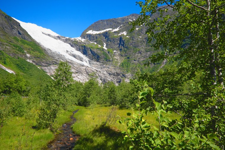 Bøyabreen glacier, Brevatnet, Sognal, Vestland, Norway - ...behind every picture, there is a story...