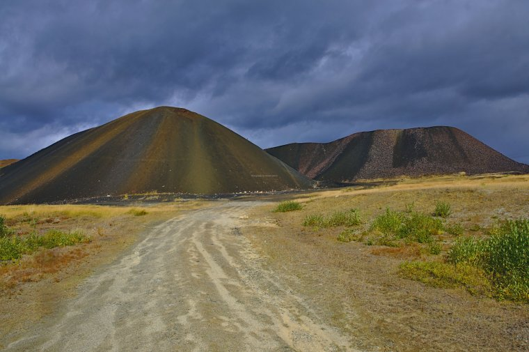 Copper Ore Slag Heap, Roros, Trondelag County, Norway - ...behind every picture, there is a story...