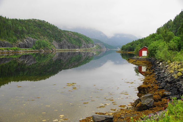 Simlestaumen Brigde, Bindalsfjorden, Nordland County, Norway - ...behind every picture, there is a story...