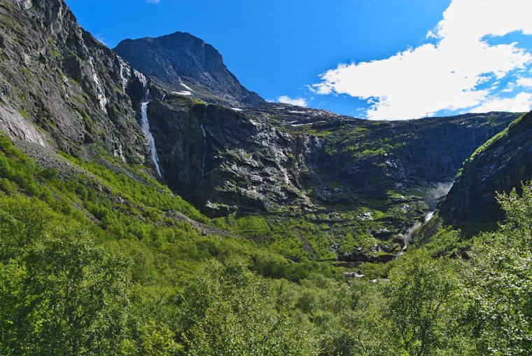 Trollstigen with 11 hairpin bends, Møre og Romsdal County, Norway - ...behind every picture, there is a story...