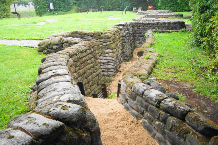 Yorkshire Trench and Dugout at Boezinge, Belgium - ...behind every picture, there is a story...