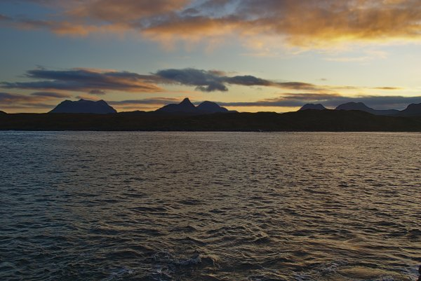 Achnahaird Bay and the mountains of Assynt in Sutherland, North West Coast Scotland
