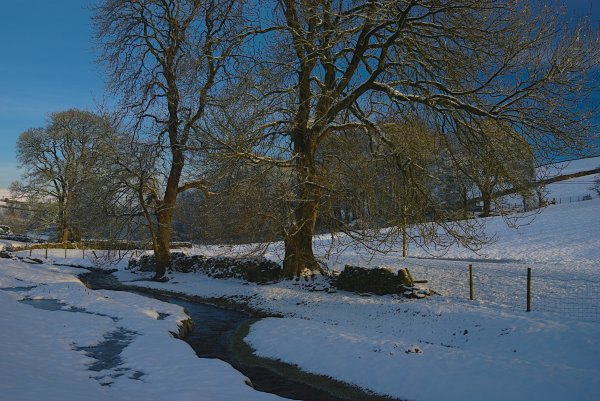 Snowy Winter in Lothersdale, Yorkshire Dales, England