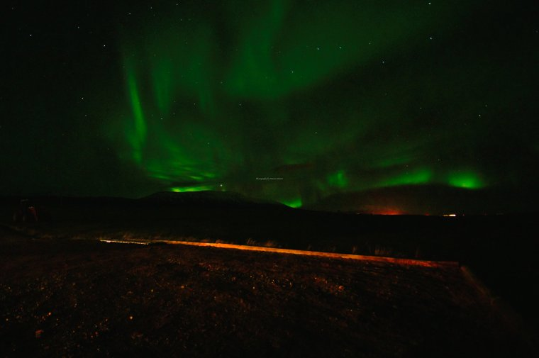 The Northern Lights (aurora borealis), Reynistaður, Iceland - ...behind every picture, there is a story...