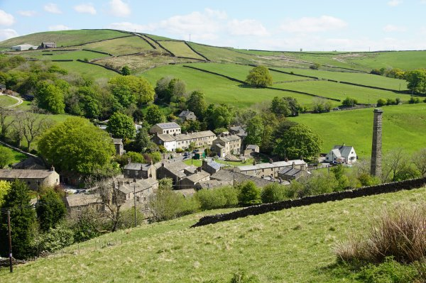 The Pennine Way, Tow Top and the Dale End, Lothersdale, Craven, North Yorkshire, England
