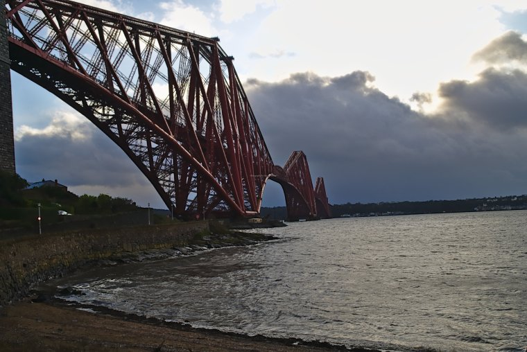 Forth Railway Cantilever, Bridge across the Firth of Forth, Fife, Scotland - ...behind every picture, there is a story...