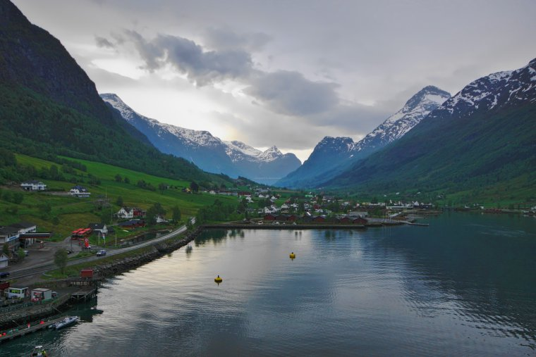 Nordfjord, and Olden with the Oldedalen Valley in the distance, Vestland County, Norway - ...behind every picture, there is a story...