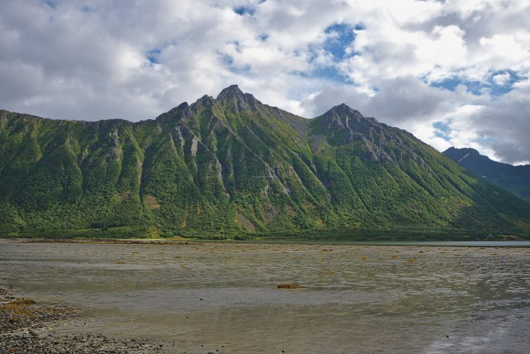 Nonsfjellet (568m) and Morfjord from Sommarhus, Austvagoya island, Lofoten Archipelago, Norland County, Norway - ...behind every picture, there is a story...