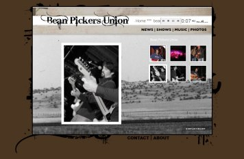 Bean Pickers Union Website - Design and Coding
