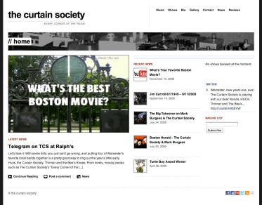 The Curtain Society website