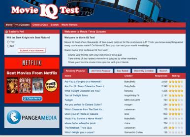 Movie IQ Test Website