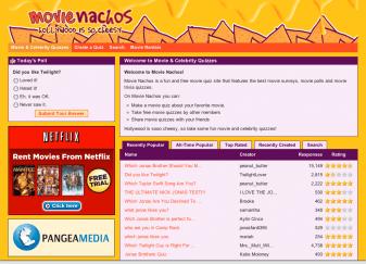Movie Nachos Website