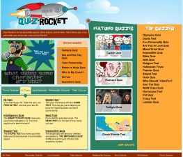 QuizRocket Website Design