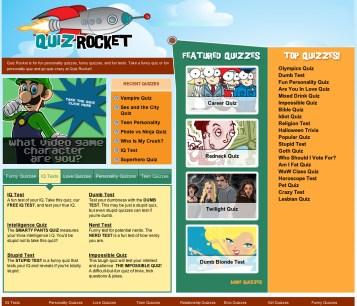 QuizRocket Website Design