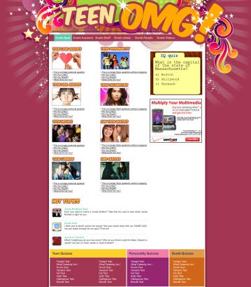 Teen OMG Website