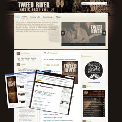 Tweed River Festival Website Design Version 1