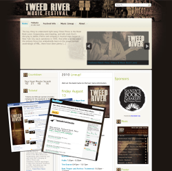 Tweed River Festival Website Design Version 1