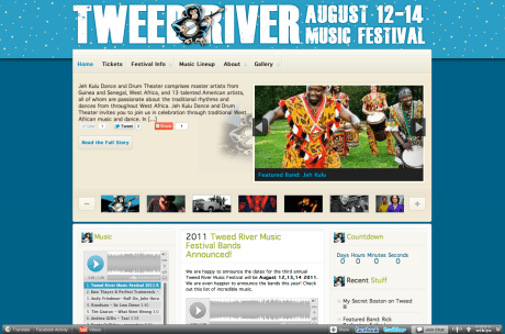 Tweed River Music Festival Website Design V2