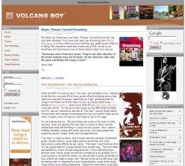 Volcano Boy Website