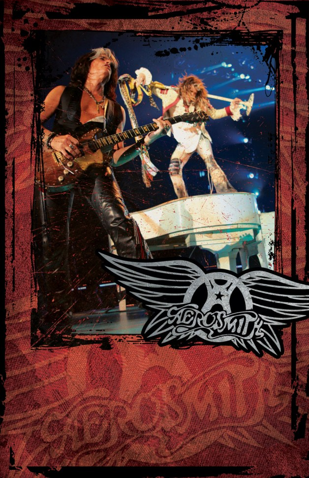 Aerosmith Tour Poster featuring Steven Tyler and Joe Perry - Design by Duncan Arsenault