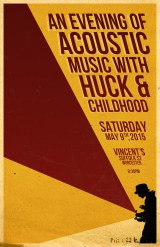 Huck and Childhood acoustic concert poster