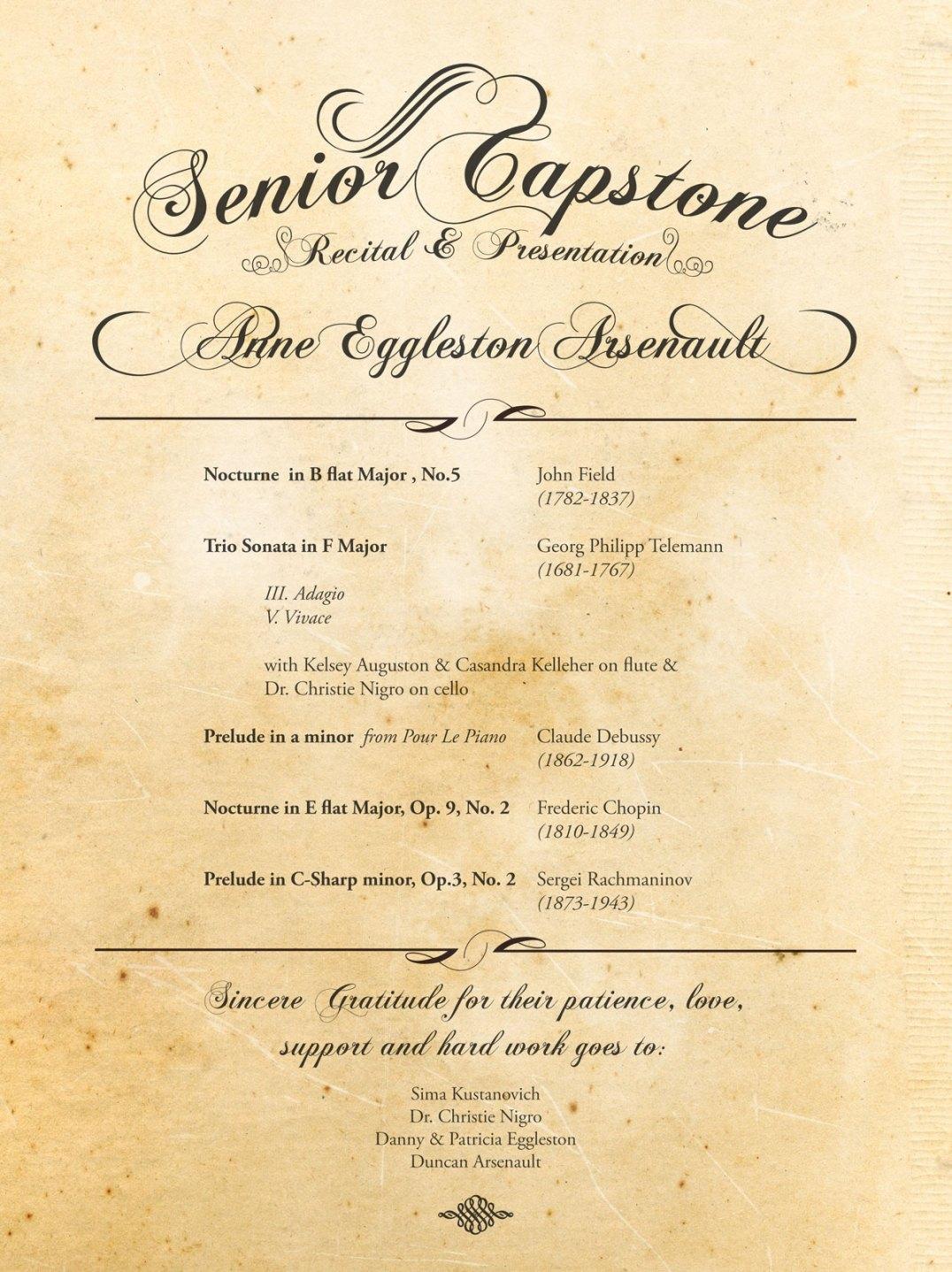 Annie Senior Capstone Program