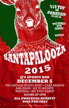 Santapalooza poster 2015
