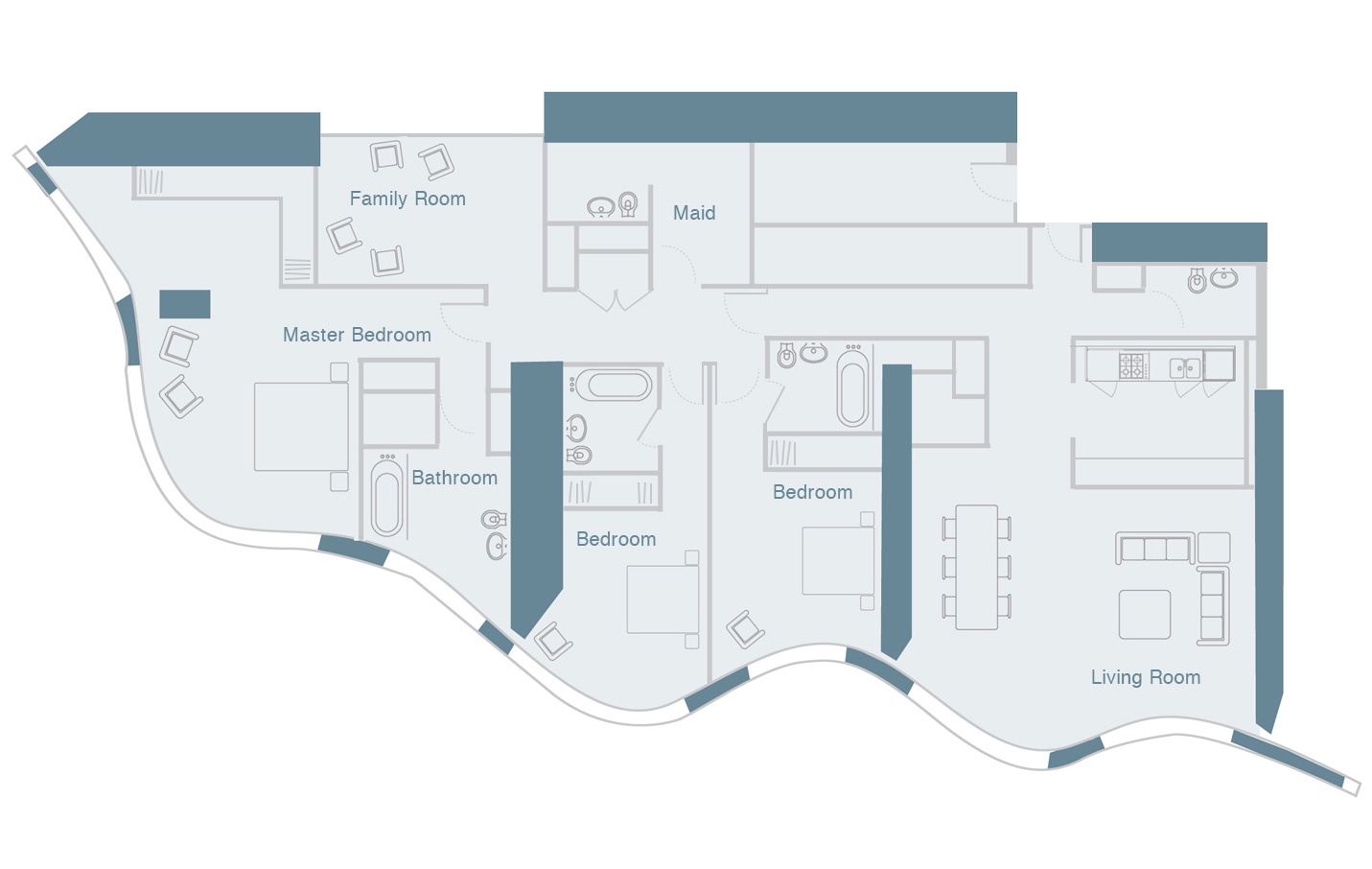 hight resolution of three bedroom type 2