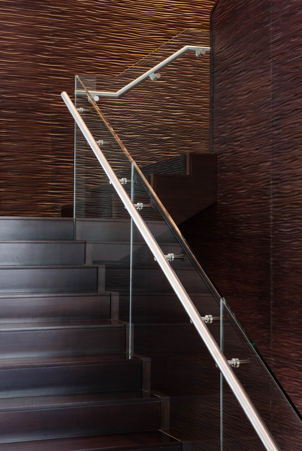 Interior Photography detailing a stairway in the Al Manzil hotel, Dubai