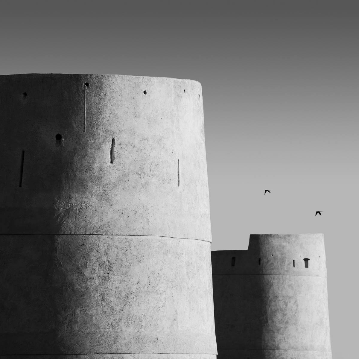 The castle wall, Umm Al Qwain, UAE