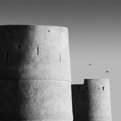 The castle wall, Umm Al Qwain, UAE