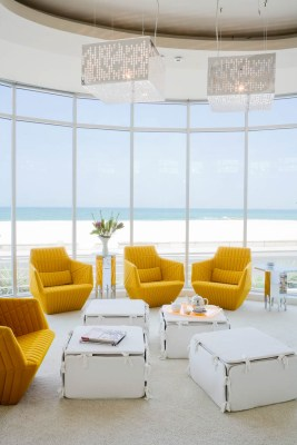 Interior design of the living room in a beach front villa, jumeriah, Dubai