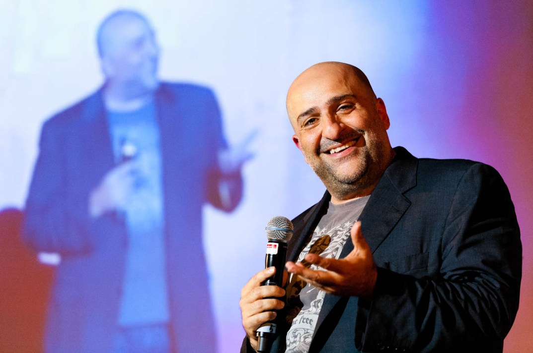 A photograph of British comedian Omid Djalili