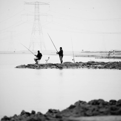 Anglers, part of the project, From the inside out by Duncan Chard