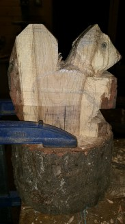 10, When carving it helps to keep the piece clamped hard to the bench.