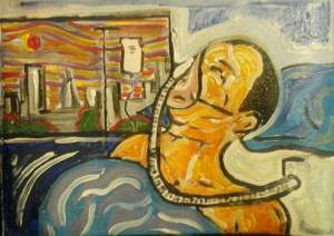 Duncan Grant: Self-Portrait: Man on ventilator