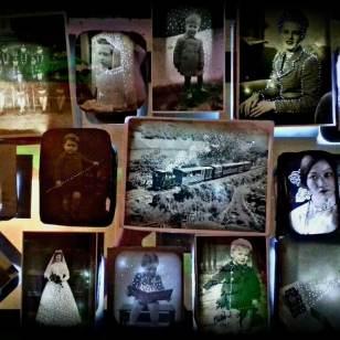 Elizabeth Burman: Miniature light boxes, Winter Gathering, Ebbsfleet 2020