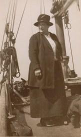 Eileen Sutherland aboard a Bawley Boat