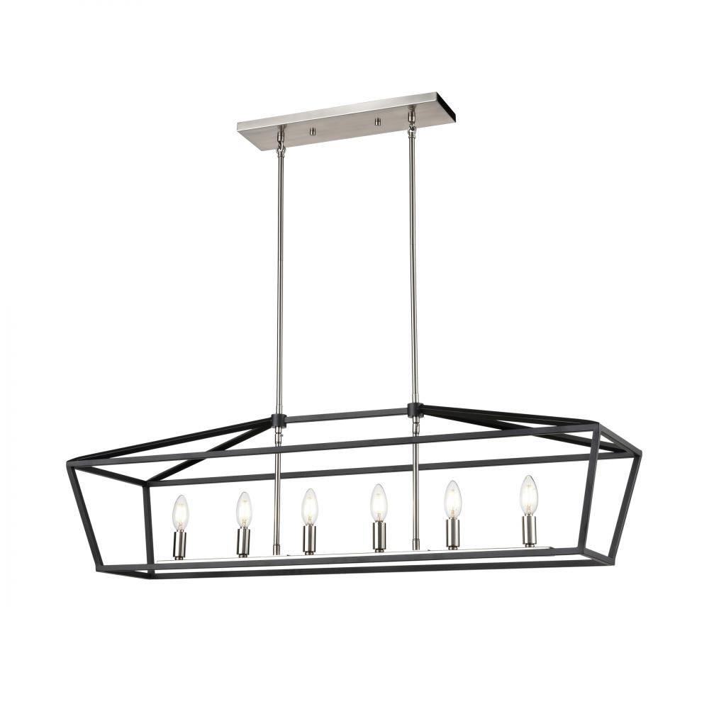 DVI DVP43804SN+GR Cabot Trail Linear Chandelier In Satin