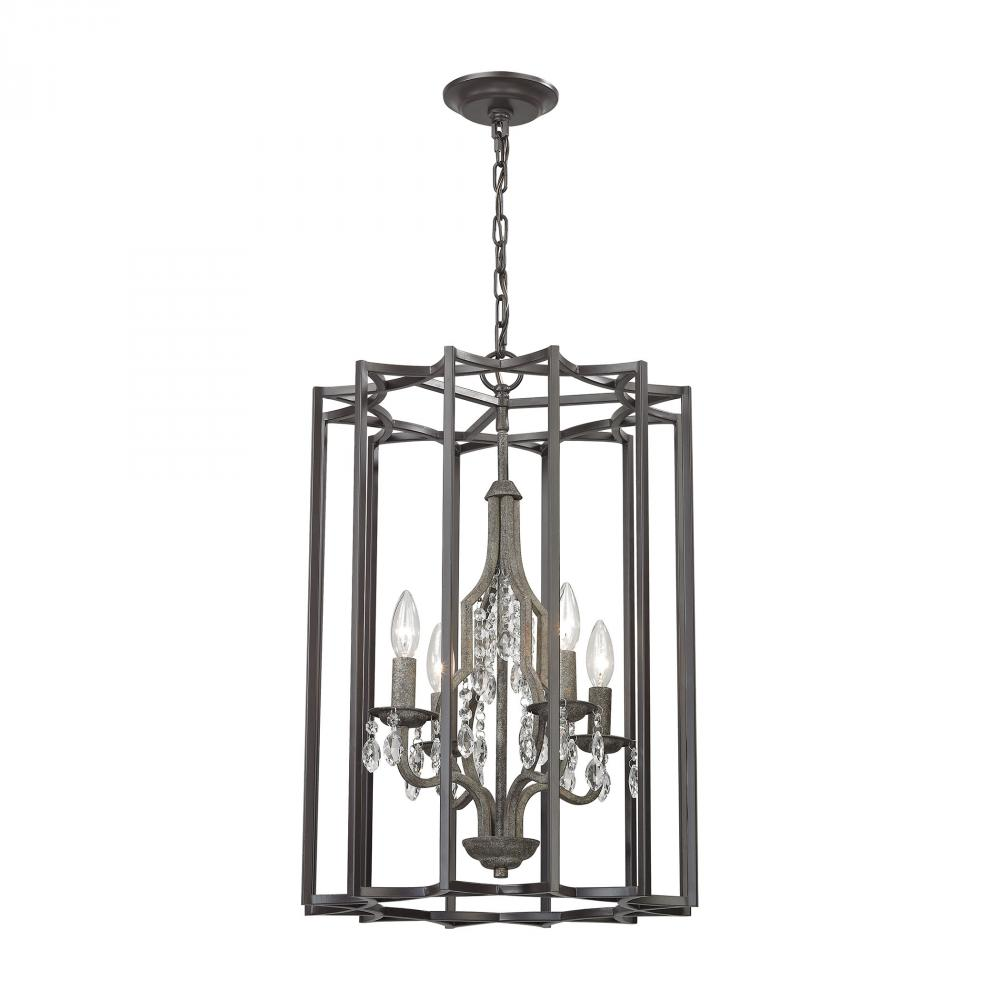 ELK Lighting 32151/4 Belgique 4 Light Chandelier In Oil