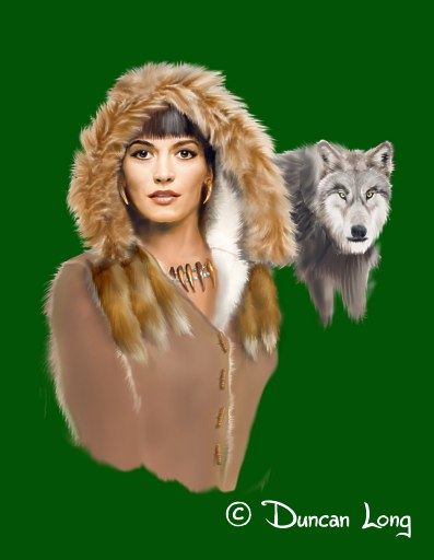 Wolf tattoo cover with wolf