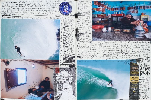 Duncan, Duncan Macfarlane, Duncan Macfarlane Photography, Surf, Surf Photography, waves, Ocean, art, fine art, prints, surfing photography, Griffin Colapinto, Mick Fanning, Morocco, Surfing, Journals, Morocco, Taylor Steele, Collage, Journalling