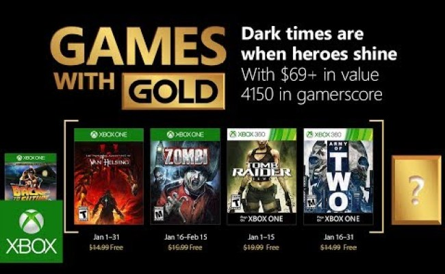 Xbox January 2018 Games With Gold Duncannagle