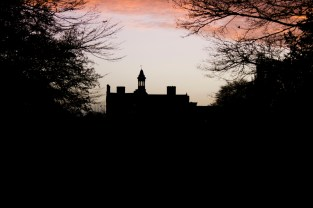Rufford Abbey by sunset